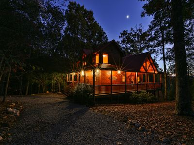 Photo for A Cabin Further - Luxury, Stunning Mountain Views