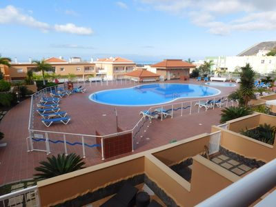 Photo for Spacious and luxurious apartment with large terrace south pool and ocean view