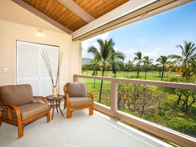 Photo for Condo walking distance to beach with WiFi, private lanai & partial ocean view- perfect for families