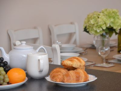 Enjoy a leisurely breakfast before heading out for the day