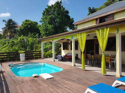 Photo for Mascotte Villa with pool and games room on the heights of Gosier
