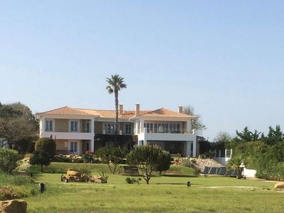 Photo for Luxurious villa, large plot directly on the ocean close to beach