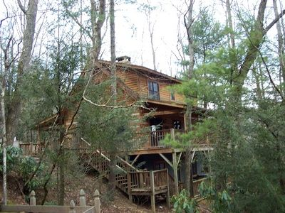 Photo for Log Cabin Centrally location with Hot Tub