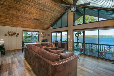 Your view as you step in the front door to the main living area.