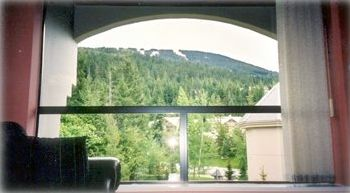 View from living room up Blackcomb