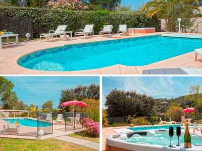 Photo for Superb Villa 12 pers with heated pool, private beach access