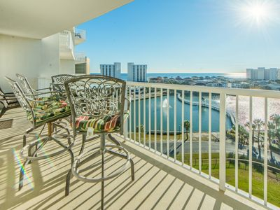 Photo for ☀Updated! Gulf & Lake View! 2 Pools!☀Pelican Beach Resort 410-1BR+Bunks☀