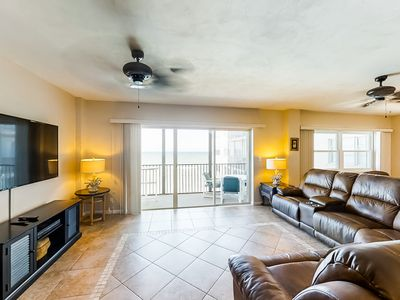 Photo for NEW LISTING! Coastal getaway on the sand w/ shared pool, screened balcony & more