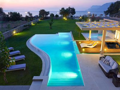 Photo for Private peaceful luxury villa with pool and outer jaccuzzi only 20 m from the se
