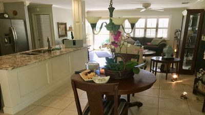 Photo for Cozy home in tropical settings 15 minutes to ocean  825 sq ft living  525 lanai