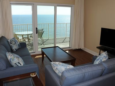 Photo for Gulf Front Condo with Private Balcony and Amazing Views of the Gulf! Great Resort Amenities!