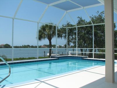 Photo for Bayfront House with Amazing Views -- Heated Pool & Boat Dock
