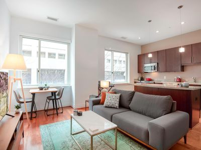 Photo for Sharp Foggy Bottom 1BR w/ Gym, Rooftop, + Doorman by Blueground