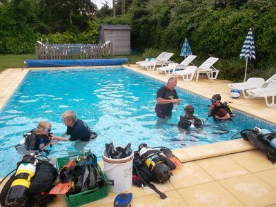 Try scuba-diving  in our lovely heated pool !