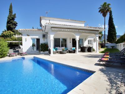 Photo for Puerto Banus. Villa, HEATED pool. Book now for XMAS and NEW YEAR. Beach, Golf.