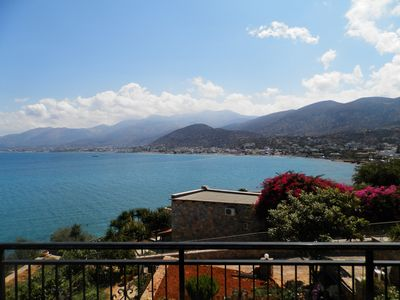 Photo for Stalida:Fantastic view to Stalis bay.30 meters near the sea.Chersonissos 4 km.