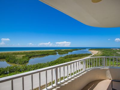 Photo for SUPER NICE beachfront condo with Tranquil Views of Sunsets on the Gulf -Pool and work out facilit...