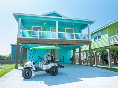 Photo for Fish'N and Beach'N: Free Golf Cart, Pet Friendly, Charcoal Grill, Patio