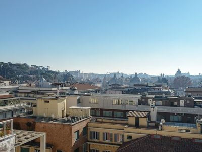 Photo for PENTHOUSE PANORAMIC VIEW STUDIO NEAR SPANISH STEPS! WIFI - TERRACE - AC
