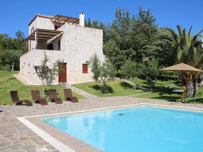 Photo for Calm located holiday house with pool, wifi, max. 6 Pers., Lakonia, Peloponnese