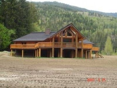 Photo for Luxurious Log Cabin with 20 Acres to Play in, on the Eagle River.