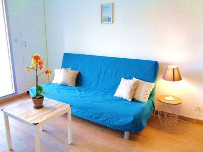 Photo for Comfortable studio 5 minutes walk from the beach, near Montpellier