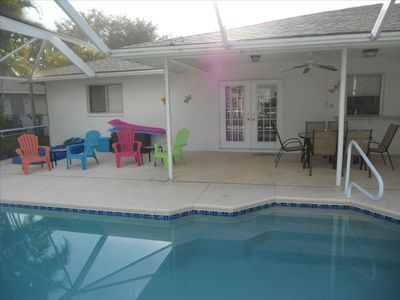 Photo for Beautiful Sw Cape Coral Home.  Large Pool, Lanai, Wifi, Ps3.