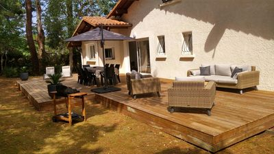 Photo for villa in the peace close to beaches, harbor and golf course with a magnificent garden