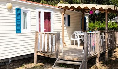Photo for Camping Marina d'Erba Rossa **** - Air-conditioned Family mobile home 3 rooms 4/6 people