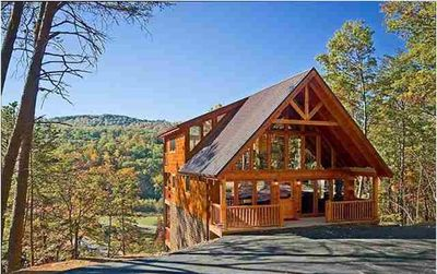 Photo for 5 Star Luxury Cabin, Mt Views, 3 King Suites, Great Location, Theater Room, wifi
