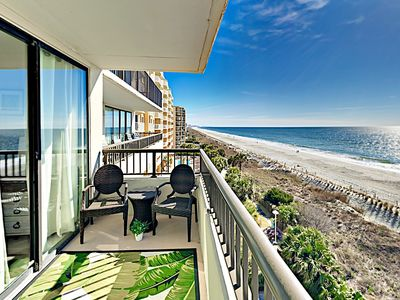 Photo for Newly Renovated Sea Winds Condo w/ Oceanfront Balcony, Indoor Pool & Hot Tub