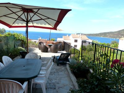 Photo for BEAUTIFUL VILLA WITH TERRACE SUPERB SEA VIEW - 300m Beach - Sagone - South Corsica