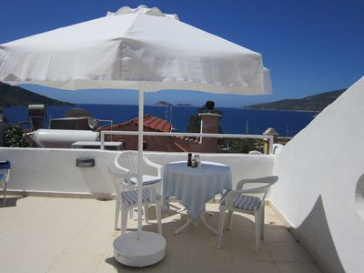 Photo for Apartment In Old Village With Stunning Roof Terrace Overlooking Sea