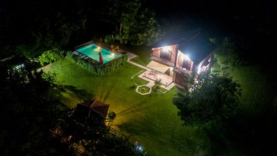 Photo for Luxury house with private pool, sauna, indoor and outdoor hot tub,river...