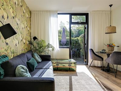 """Photo for Boutique Apartments Bergen """"Green"""" with sunny private terrace, courtyard & sauna"""