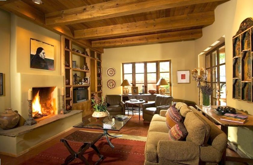 enjoy that santa fe style in your private vrbo contemporary southwest living room interior design home
