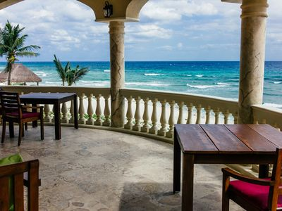 Photo for Privately-Owned, Exquisite Oceanfront Villa located 10 min. from Tulum