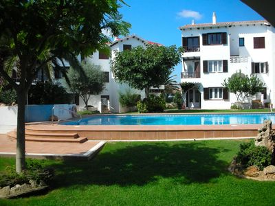 Photo for Menorca: beautiful 3 bedroom ground floor apartment with superb views