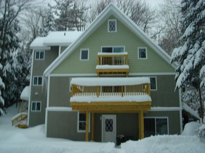 Photo for Seasonal 5 Bedrooms & Loft, 1.5 Miles To Mt. Snow Great For Two Families.