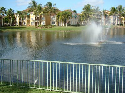 Photo for ON LAKE! 2 Bed. Condo-Refurbished-Beautiful View, Fountains,Palm Trees, Privacy!