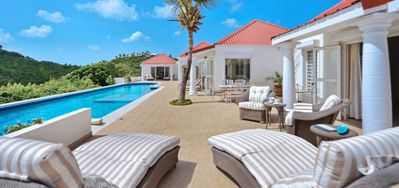 Villa Terrasse De Mer  -  Beach View - Located in  Tropical Terres Basses with Private Pool