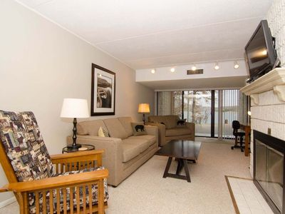 Photo for 104B- lakefront condominium, one bedroom, two fireplaces & flat screen TV!