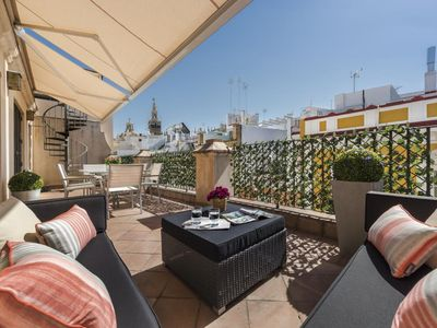 Photo for 1 BD Penthouse with private Terrace & Solarium next to Cathedral. Vinuesa Terrace