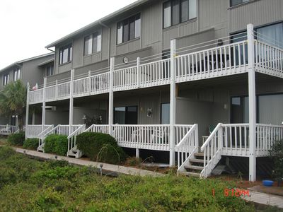 Photo for Cute Ocean Front Condo. Brand new deck to enjoy the ocean view.