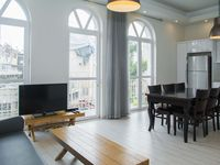 The apartment was in a great location. It was very large and very well maintained - and very modern.