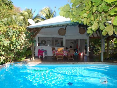 Photo for tropical garden pool villa - near beaches