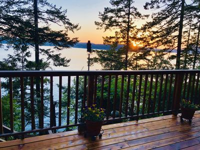 Gorgeous sunsets right from your living room and deck