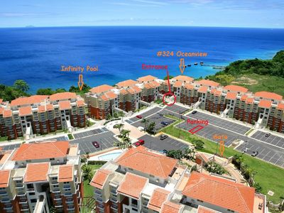 Photo for Oceanview Condo, Brilliant Sunsets, Private Balcony. Infinity Pool, WiFi, A/C
