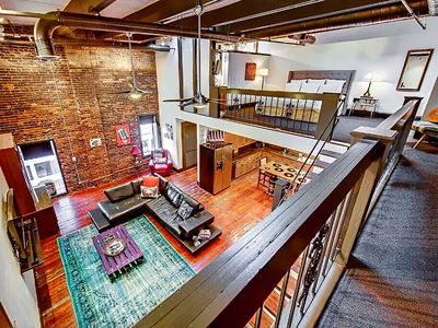 Photo for ❤️ of Downtown- 2 BR Walk to Everything! Penthouse Loft- Printers Alley Lofts