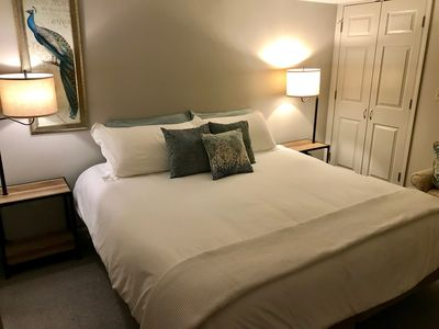 The private bedroom has a comfortable king-size iComfort bed